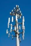 Nueva torre celular de la transmisión Imágenes de archivo libres de regalías