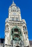 Nueva torre de Councill Pasillo en el cuadrado de Marienplatz en Munich, Alemania imagen de archivo libre de regalías