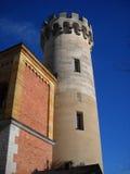 Nueva torre de la torre vieja Imágenes de archivo libres de regalías