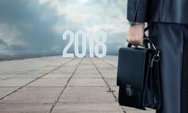 Nueva trayectoria nuevos 2018 en el negocio Fotografía de archivo