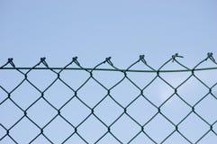 Nueva valla de seguridad del alambre Fotos de archivo libres de regalías