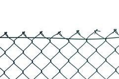 Nueva valla de seguridad del alambre aislada Foto de archivo