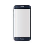 Nueva versión del smartphone moderno con la pantalla blanca en blanco Vector EPS 10 Foto de archivo libre de regalías