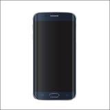 Nueva versión del smartphone moderno con la pantalla negra en blanco Vector EPS 10 Imagenes de archivo