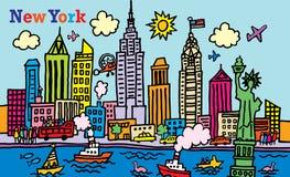 Nueva York stock de ilustración