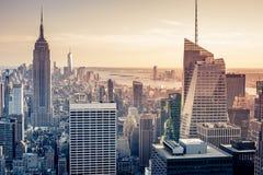 Nueva York aérea Imágenes de archivo libres de regalías
