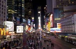 Nueva York Broadway en la noche Fotografía de archivo libre de regalías