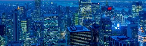 Nueva York - 20 de diciembre de 2013: Vista del Lower Manhattan en Decembe Foto de archivo libre de regalías