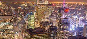 Nueva York - 20 de diciembre de 2013: Vista del Lower Manhattan en Decembe Foto de archivo