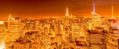 Nueva York - 20 de diciembre de 2013: Vista del Lower Manhattan en Decembe Imagen de archivo