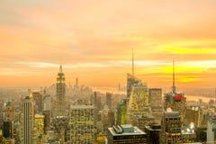 Nueva York - 20 de diciembre de 2013: Vista del Lower Manhattan en Decembe Imagen de archivo libre de regalías