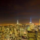 Nueva York - 20 de diciembre de 2013: Vista del Lower Manhattan en Decembe Fotografía de archivo libre de regalías