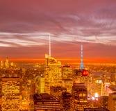 Nueva York - 20 de diciembre de 2013: Vista del Lower Manhattan en Decembe Imagenes de archivo
