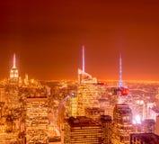 Nueva York - 20 de diciembre de 2013: Vista del Lower Manhattan en Decembe Imágenes de archivo libres de regalías