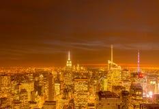 Nueva York - 20 de diciembre de 2013: Vista del Lower Manhattan en Decembe Fotos de archivo libres de regalías