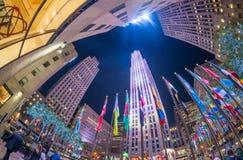 NUEVA YORK - 5 DE NOVIEMBRE: Centro de Rockefeller el 5 de noviembre de 2015 adentro Fotos de archivo