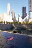 NUEVA YORK - 15 de octubre de 2016: Punto cero, monumento, Manhattan Imagenes de archivo