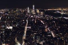 Nueva York del cielo en la noche imagen de archivo libre de regalías