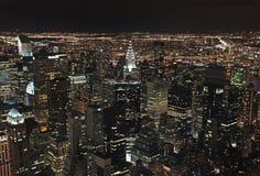 Nueva York del Empire State Building por noche, los E.E.U.U. Imagen de archivo