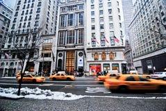 Nueva York durante invierno Fotos de archivo