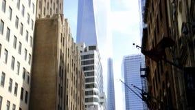 Nueva York, el 3 de agosto: Edificio de Freedom Tower de Manhattan en New York City metrajes