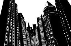 Nueva York en blanco y negro stock de ilustración