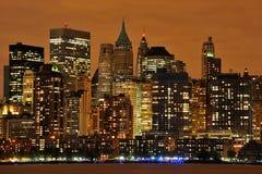 Nueva York en la noche Imagenes de archivo