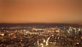 Nueva York en la noche Imágenes de archivo libres de regalías