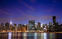 Nueva York en la noche Foto de archivo