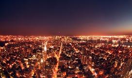 Nueva York en la noche Imagen de archivo libre de regalías