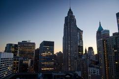 Nueva York en la oscuridad Imágenes de archivo libres de regalías