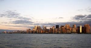 Nueva York en la puesta del sol Foto de archivo