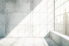 Nueva York interior concreta stock de ilustración