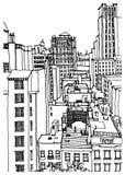 Nueva York, los E stock de ilustración