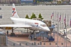 Nueva York, los E.E.U.U. - 10 de octubre: Concordia supersónica del aeroplano del pasajero Foto de archivo