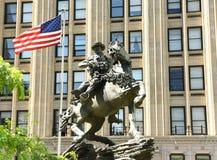 Nueva York, los E.E.U.U. - 24 de mayo de 2018: Monumento de la respuesta de América en liberación fotografía de archivo libre de regalías