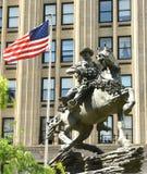 Nueva York, los E.E.U.U. - 24 de mayo de 2018: Monumento de la respuesta de América en liberación imágenes de archivo libres de regalías
