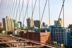 Nueva York, los E.E.U.U. - 2 de septiembre de 2018: Puente de Brooklyn - Manhattan Nueva York fotografía de archivo libre de regalías