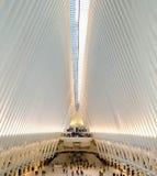 Nueva York, los E.E.U.U. - octubre de 2017: El Oculus en el World Trade Center T Imágenes de archivo libres de regalías