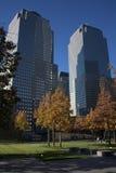 Nueva York - monumento del 11 de septiembre Foto de archivo libre de regalías