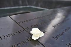Nueva York 9/11 monumento en el punto cero del World Trade Center Fotografía de archivo