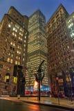 NUEVA YORK, NUEVA YORK - 10 DE ENERO DE 2014: Paisaje urbano de Nueva York Foto de archivo libre de regalías