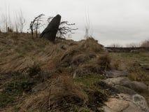 Nueva York, NY/Estados Unidos - marcha 15, 2106: Opinión del paisaje del monumento irlandés del hambre imagen de archivo