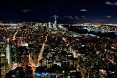 Nueva York por noche Imagen de archivo