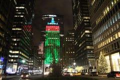 Nueva York por noche Imagen de archivo libre de regalías