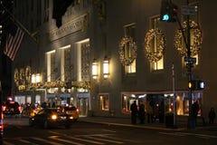 Nueva York por noche Foto de archivo