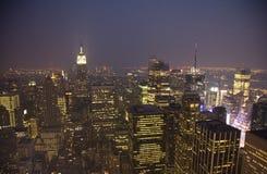 Nueva York, puesta del sol Foto de archivo libre de regalías