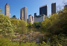Nueva York vista de Central Park Foto de archivo libre de regalías