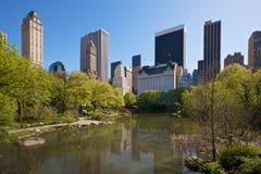 Nueva York vista de Central Park Fotos de archivo