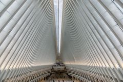 Nueva York World Trade Center estación del 11 de septiembre imagenes de archivo